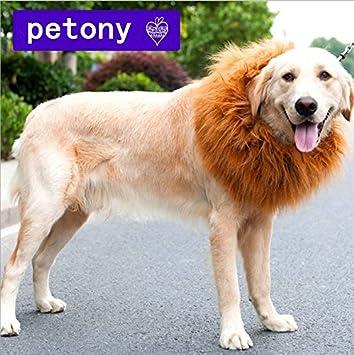 petony Pet Costume Lion Mane peluca cabello para perro, diseño navideño de Halloween ropa Festival