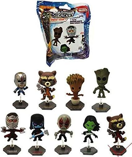 "Super hero movie Guardians of the Galaxy mini Bobble head 3/"" figure toys loose"