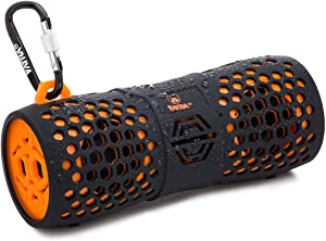 Yatra Aquatune 9612 - Portable Waterproof Rugged Wireless Bluetooth Speaker Compatible with iPhone, iPad, Samsung, Android, Tablet, or Smartphone (Orange)
