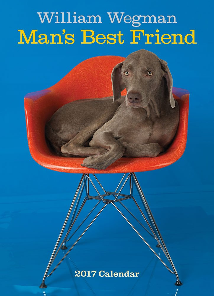 William Wegman Man's Best Friend 2017 Wall Calendar