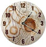Cheap Sugar Vine Art KNOT IN WOOD TREE CLOCK Decorative Round Wall Clock Home Decor Large 10.5″ Unique Clocks