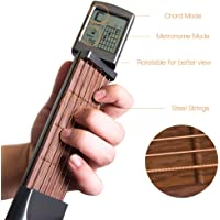 Sizet Guitar Practice Neck Pocket Guitar Trainers Instrumentos Digital Guitar Chord Trainer Tool 6 Fret Portable Guitar Chord with Auxiliary Screen
