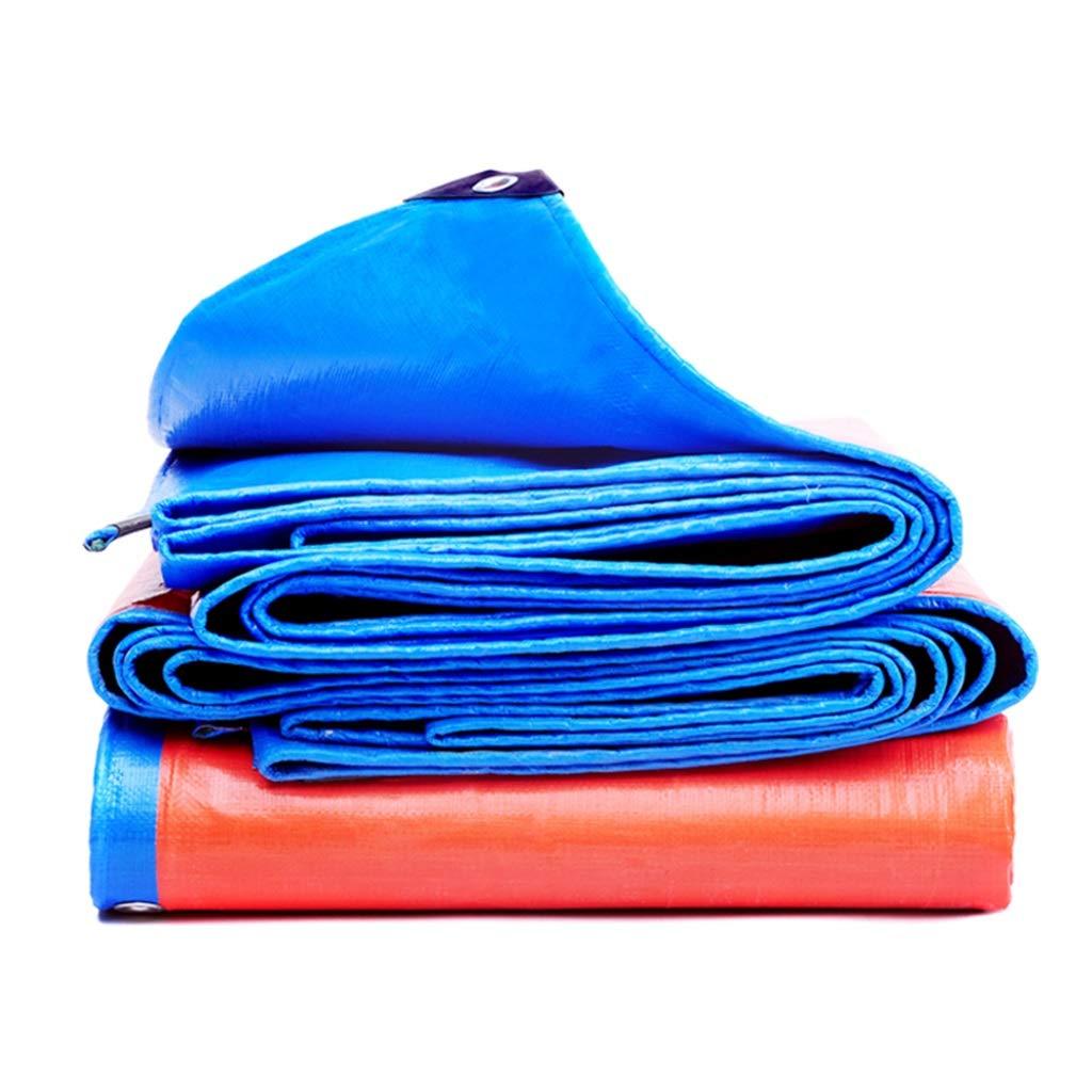 PE大型ターポリン両面防水ヘビーデューティー屋外サンシェードレインサンスクリーン防風オレンジとブルー (サイズ さいず : 6X10M) 6X10M  B07GXNYN71