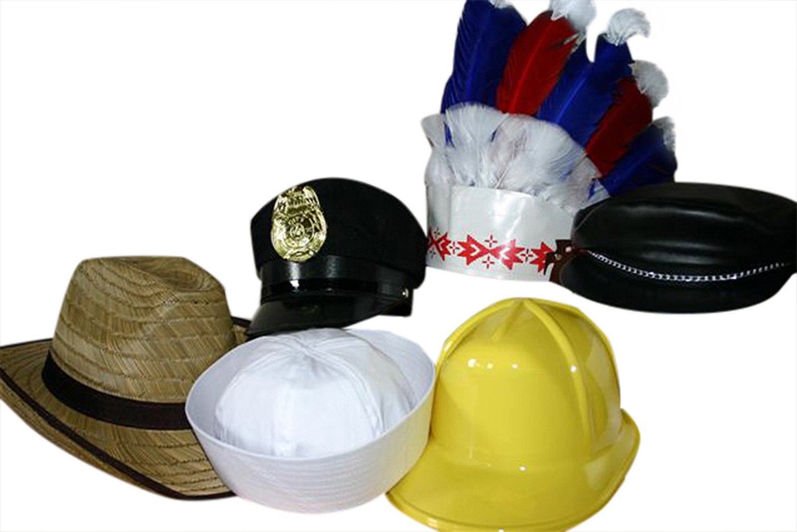 YMCA Village People Style Theme Package of Hats