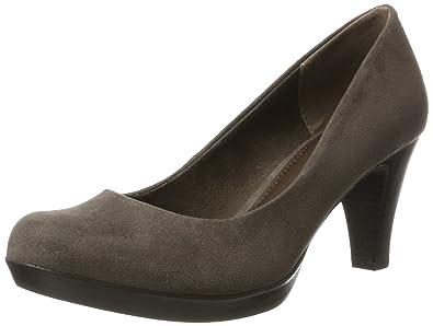 Womens 22411 Closed Toe Heels, Beige, 4 UK Marco Tozzi