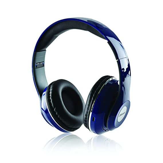 Amazon.com: 2BOOM Epic Jam Wireless Bluetooth Over Ear Foldable Headphones Bass Stereo Headset Blue: Electronics