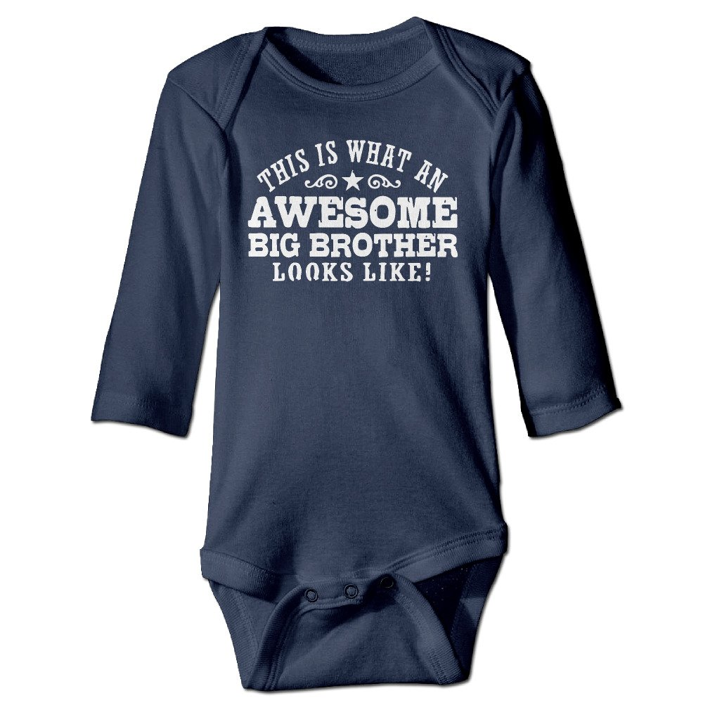 Baby Boy/Girls Awesome Big Brother Baby Onesies Long Sleeve