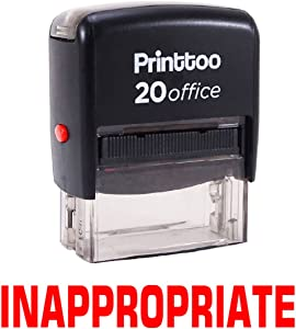 Printtoo Inappropriate Self Inking Rubber Stamp Office Stationary Custom Stamp-Red