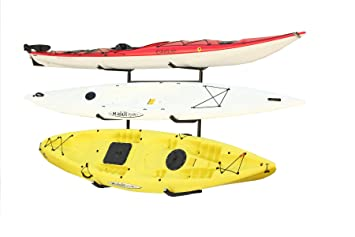 Stoneman Sports KC 123 Sparehand Catalina Plus Freestanding Triple Kayak Or Canoe Storage Rack