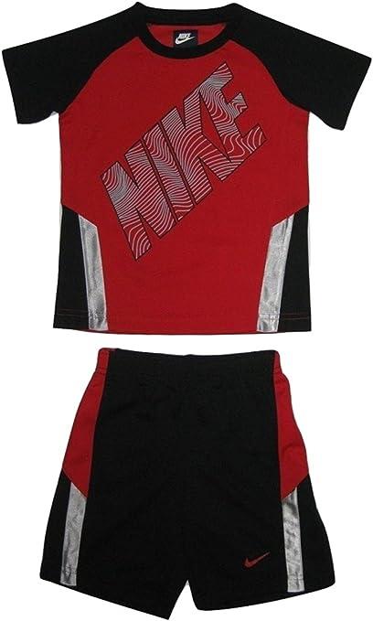 Nike pour Enfant garçon 2 pièces Rouge et Noir Athletic T