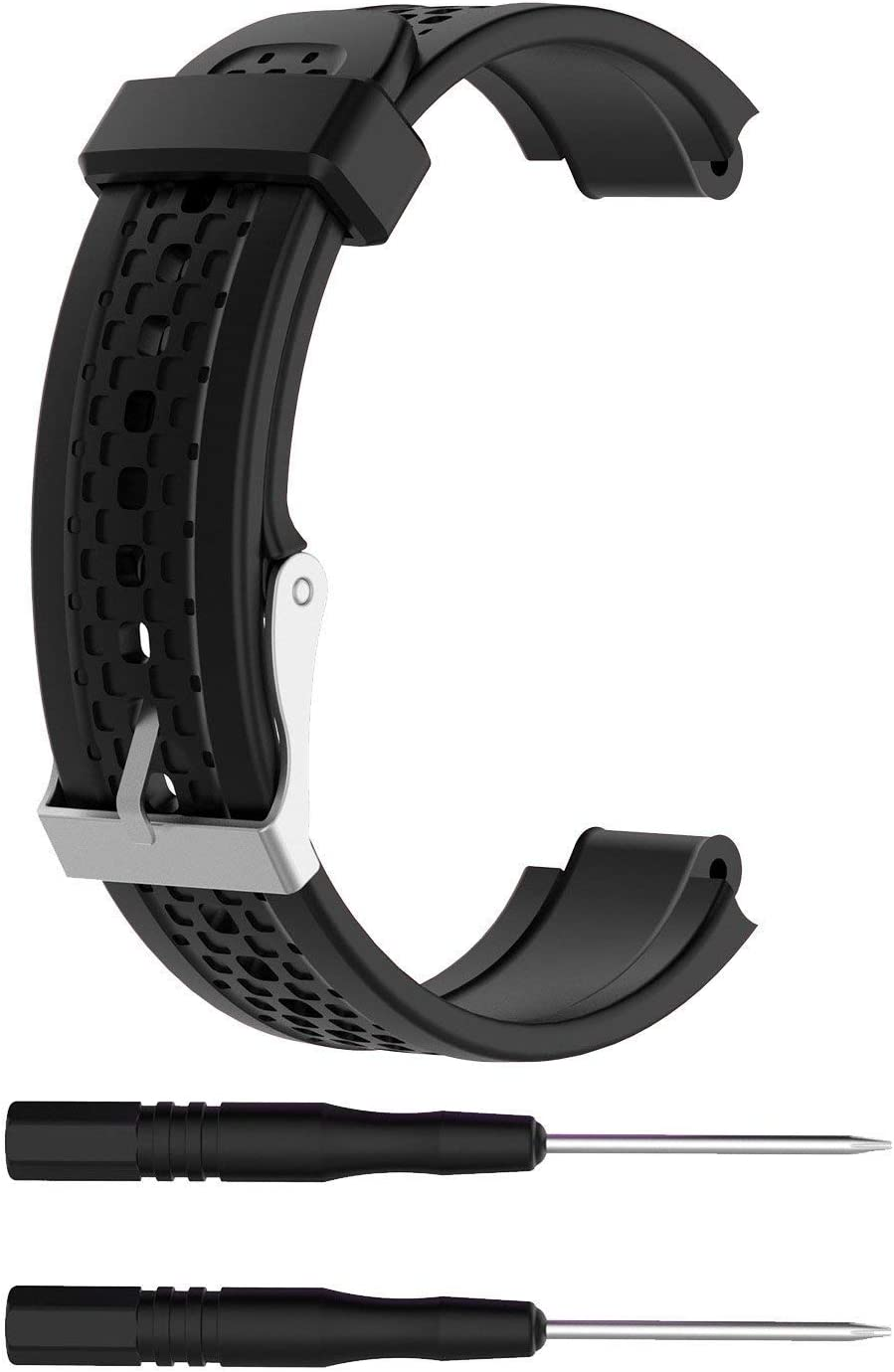 Replacement Band Compatible with Garmin Forerunner 25 GPS Running Watch Wristband Fitness Tracker for Smartphone(Female Strap) with Adapter Tools