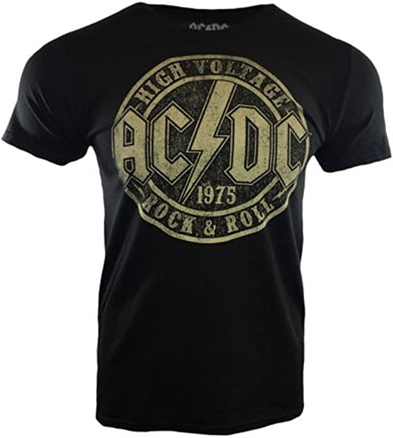 Official AC//DC T Shirt Highway To Hell Group Black Classic Rock Metal Tee Mens