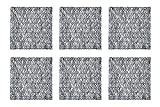 DII Woven Paper Square Decorative Placemat or Charger for Holidays, Parties, and Décor (16' Square) Black - Set of 6