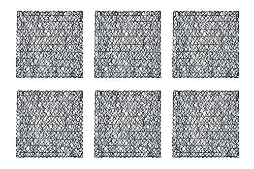 DII Square Woven Paper Placemat, Set of 6, Black - Perfect for Halloween, Dinner Parties, and Everyday Use