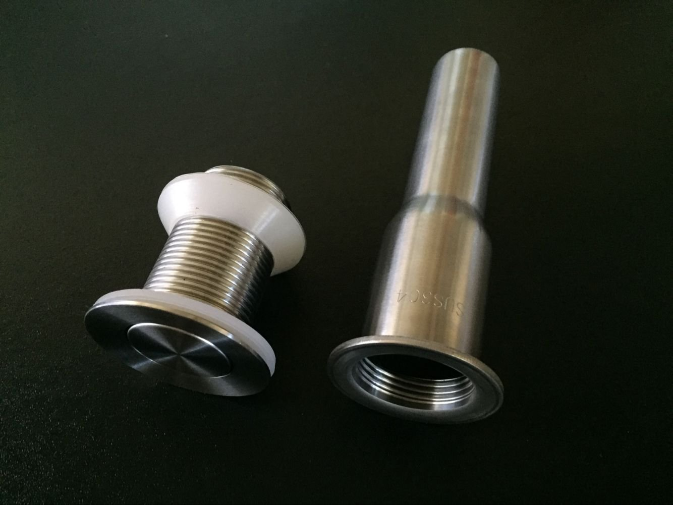Stainless Steel Bathroom Sink Flip Drain Stopper Without Overflow ...