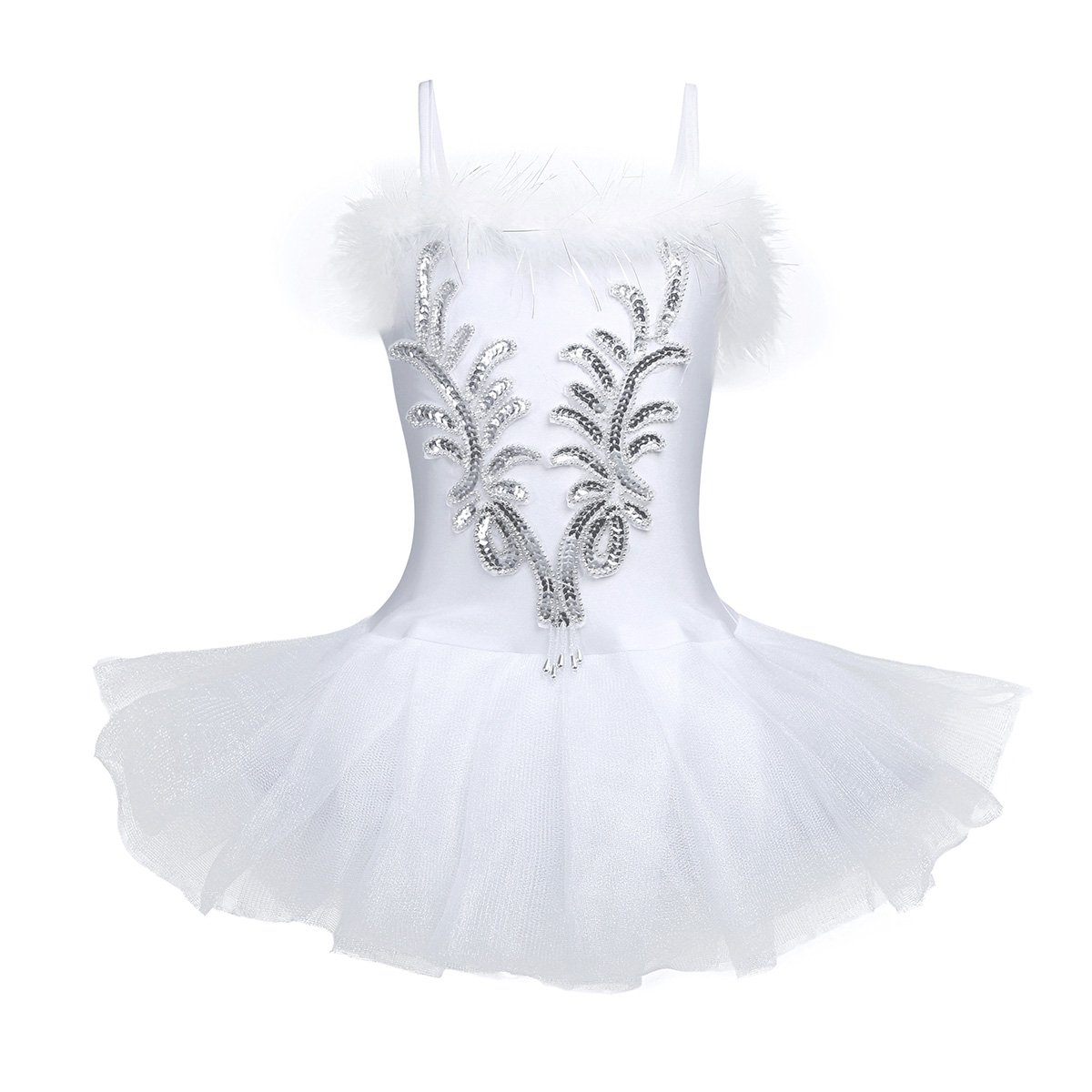 Amazon.com: CHICTRY Kids Girls Sequins Beads Flower Fairy Ballerina Dance Costume Ballet Tutu Dress with Long Gloves and Hair Clip Set: Clothing