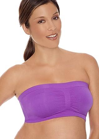 f07748edaac22 LAMAZE Seamless Padded, Strapless Nursing and Maternity Bra - Purple, L