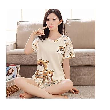 Plus Size XXXL New Summer Sleepwear Women Pajamas Sets v-Neck Cartoon Short  Sleeve Pajama 716d7b386