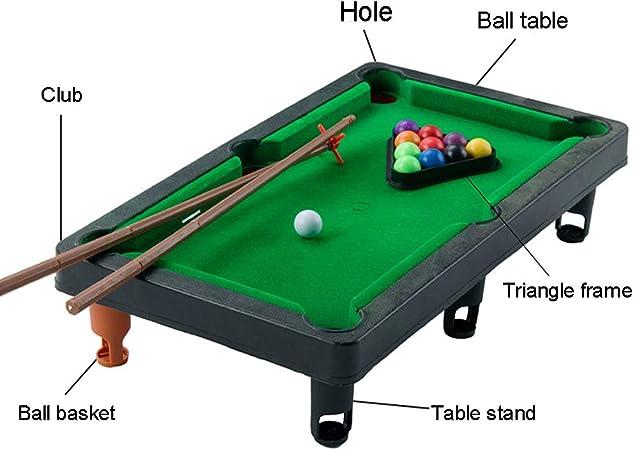 1PC Mini Mesa Pool Grupo Pequeño Juegos De Billar Incluye Juego De Bolas, Varillas Y Triángulo Rack De Viaje Oficinas Amistosos Escritorio Para Toda La Familia: Amazon.es: Juguetes y juegos