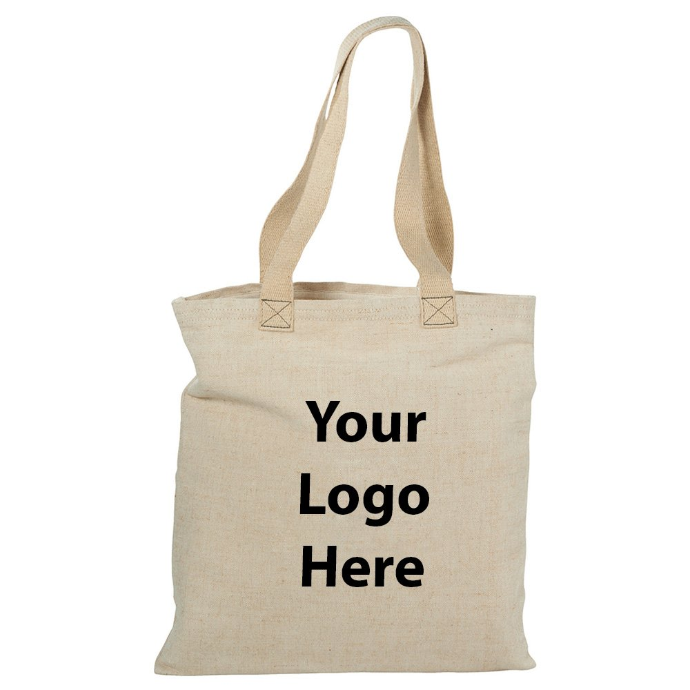 Alternative Jute Shopper Tote - 36 Quantity - $14.95 Each - PROMOTIONAL PRODUCT / BULK / BRANDED with YOUR LOGO / CUSTOMIZED