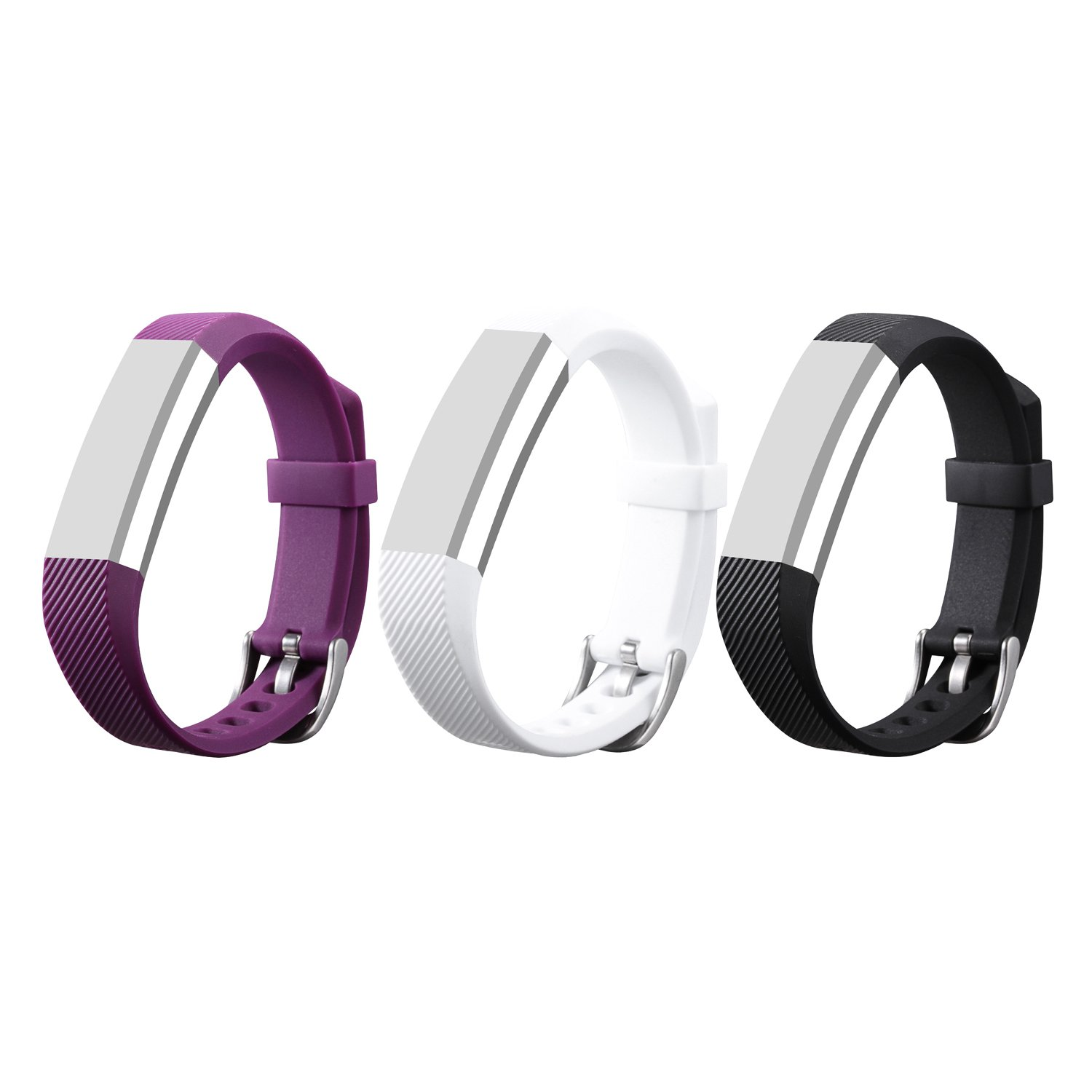 Bands for Fitbit Alta / Fitbit Alta HR, ULT-unite Replacement Silicone  Colorful Band Design with Adjustable Metal Clasp, Prevent Tracker Falling