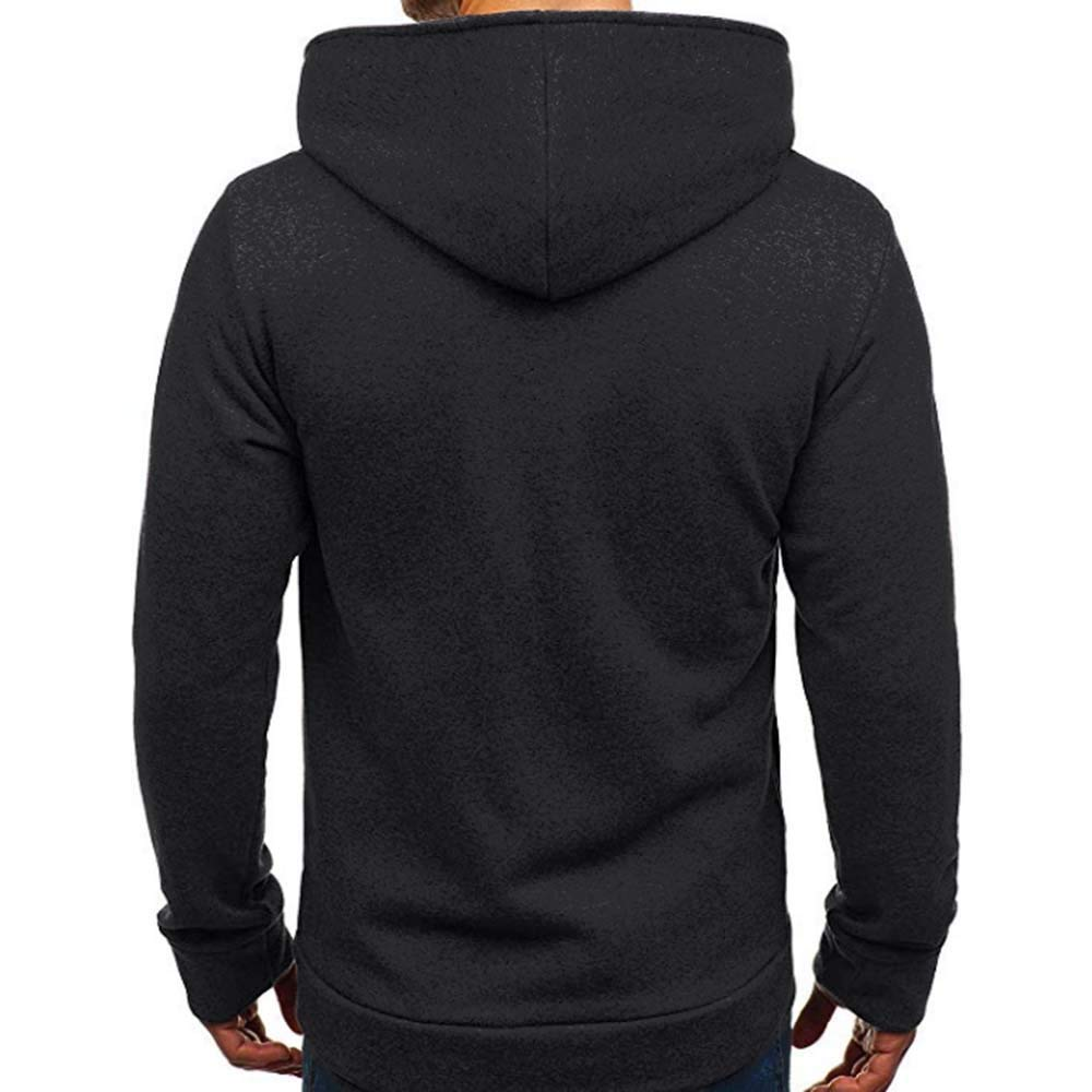 Amazon.com: 2018 New!!😊Men Autumn Winter Casual Sweatshirt,Mens Long Sleeve Coat Tracksuits Jacket (2XL, Black): Electronics
