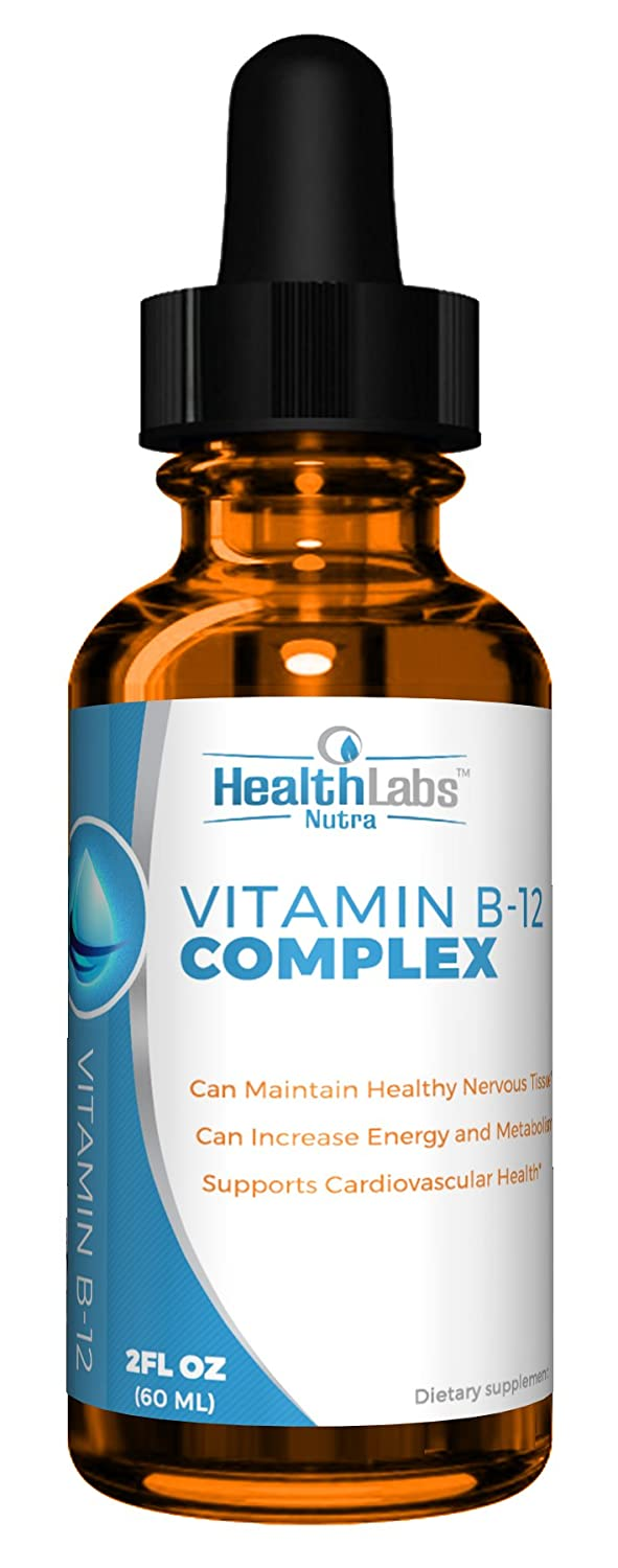 Extra-Strength, Fast-Acting Liquid B12 Drops – Naturally Boost Energy and Brain Function (Pack of 6)