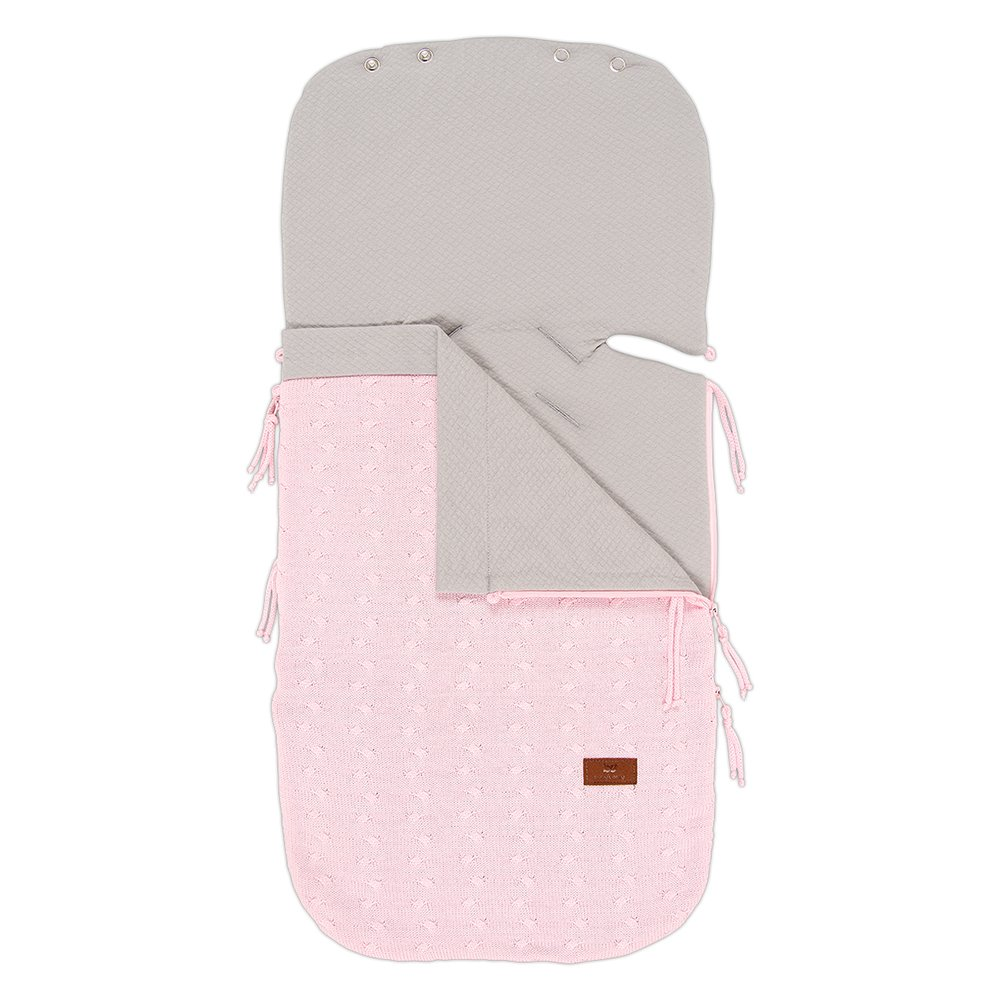 Baby's Only 461321Summer Carseat Footmuff Braid Baby Pink Baby's Only .