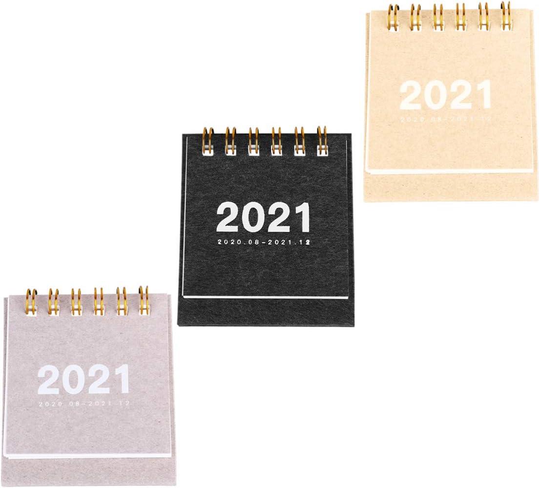 Bloomma 2020 Mini Calendario Scrivania da Tavolo Simpatico Calendario Mensile da Tavolo Flip su Cavalletto per Casa o Ufficio