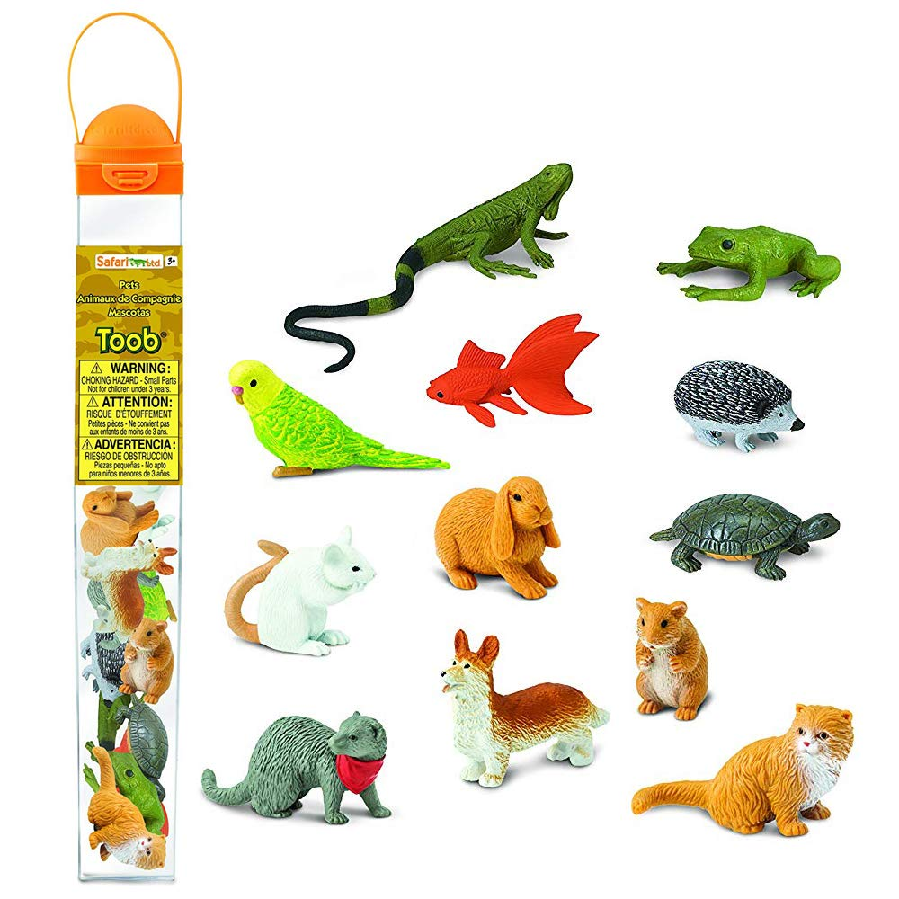 Safari Ltd. Pets TOOB - Includes 12 BPA, Pthalate, and Lead Free Hand Painted Figurines - Ages 3+