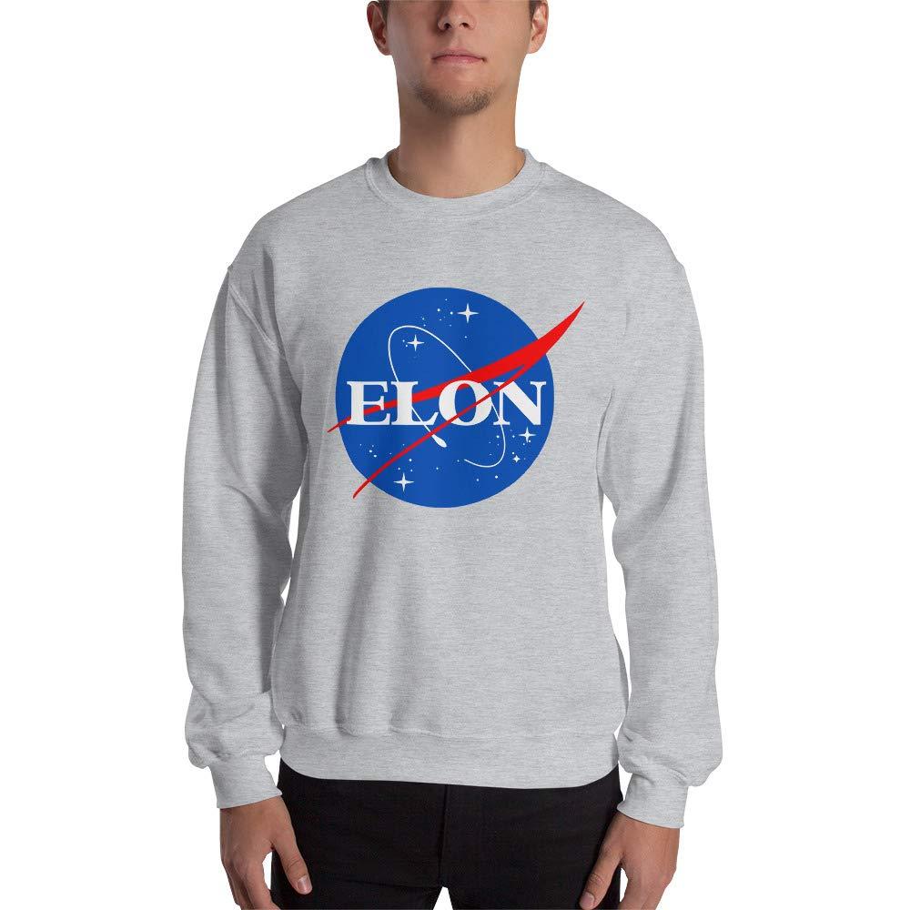 Sport Grey Large Elon Musk NASA Parody Space Logo NASA Christmas Unisex Sweatshirt Ugly Sweater