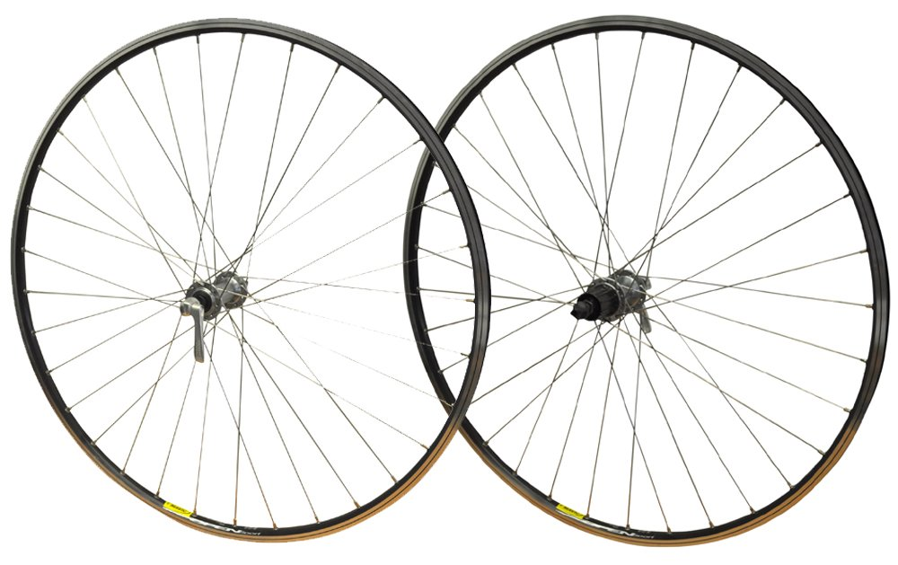 700c PAIR Shimano Tiagra 32h Freehub Road Bike Cycling Bike Racer Mavic Open Sport Cassette Hub Silver Rim Wheels