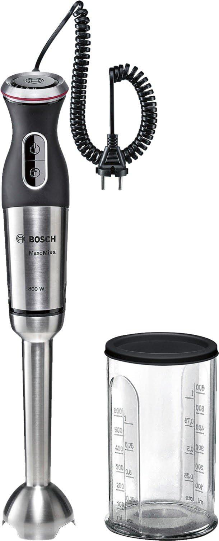 Bosch MSM88110 MaxoMixx Batidora de mano, 800 W,  color negro y acero
