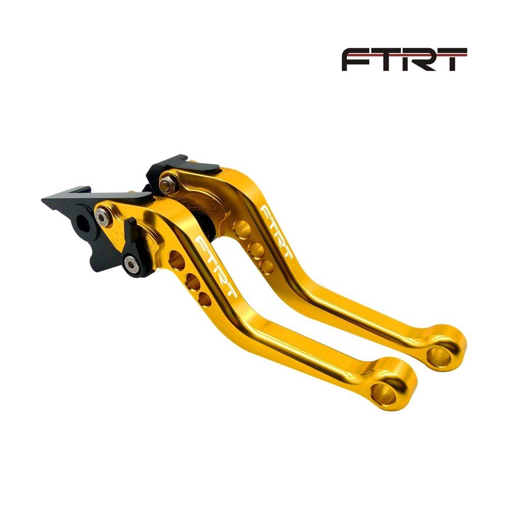 FTRT Short Brake Clutch Levers for Honda CBR600 F2,F3,F4,F4i 1991-2007, SHADOW750 1997-2004, CB599/CB600 HORNET 1998-2006,CB400 2014, CB900 Hornet 2002-2006,NC700 S/X 2012-2013 Gold
