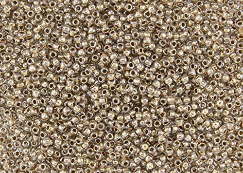 - 8/0 Toho Japanese Seed Beads - Crystal Bronze Lined #989 (28g Tube)