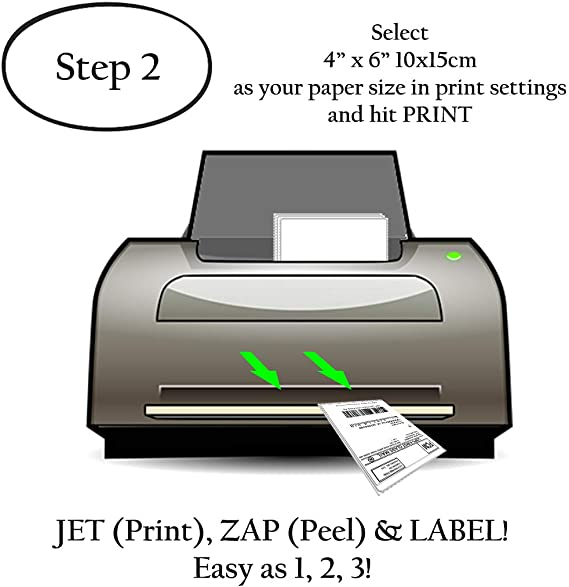 Amazon.com: JETZAP - Etiquetas adhesivas para impresoras ...