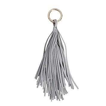PU Leder Quaste Schlüsselanhänger Damen Tascheanhänger Keychain mode Schmuck