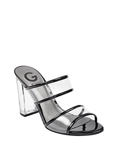 c58c02a030f G By Guess Women s Brayla Lucite Mules Clear Black 6 B(M) US  Buy ...