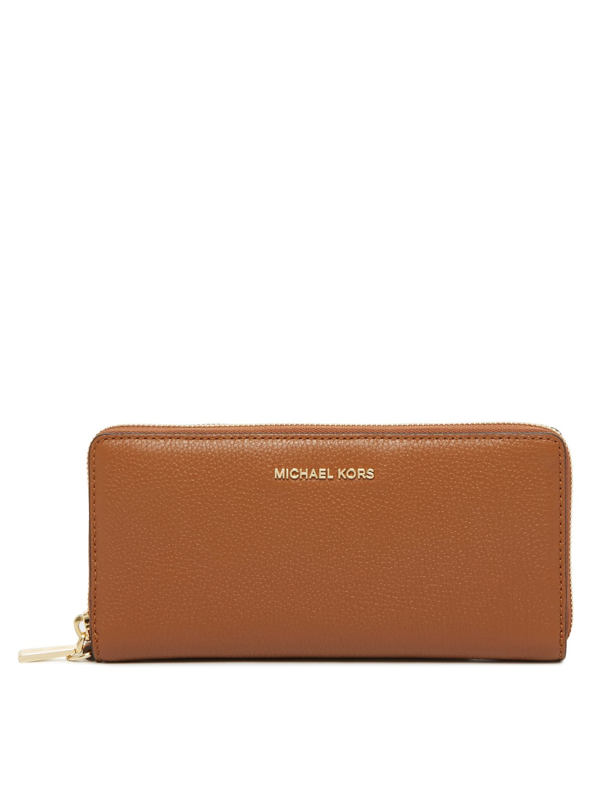 Michael Kors Mercer Zip Around Travel Continental Leather Wallet (Luggage) by Michael Kors