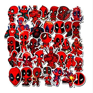 50pcs Super Hero Stickers Decal For Snowboard Luggage Car Fridge Laptop Sticker