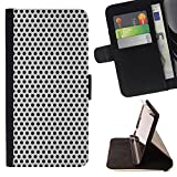 Planetar Colorful Pattern Flip Wallet Leather Holster Protective Skin Case Cover For SAMSUNG Galaxy S4 IV / i9500 / i9505 / SGH-i337 ( Polka Dot Metal Speaker Imitation )