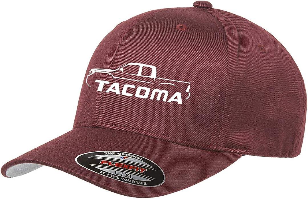 Toyota Tacoma Pickup Truck Classic Outline Design Flexfit hat Cap