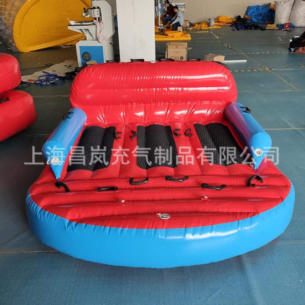HAHAJY Großes aufblasbares schwimmendes Bett Aufblasbares Spielzeug für mehrere Personen, schwimmende Reihe Aufblasbares Schlafsofa für faules Wasser, 1