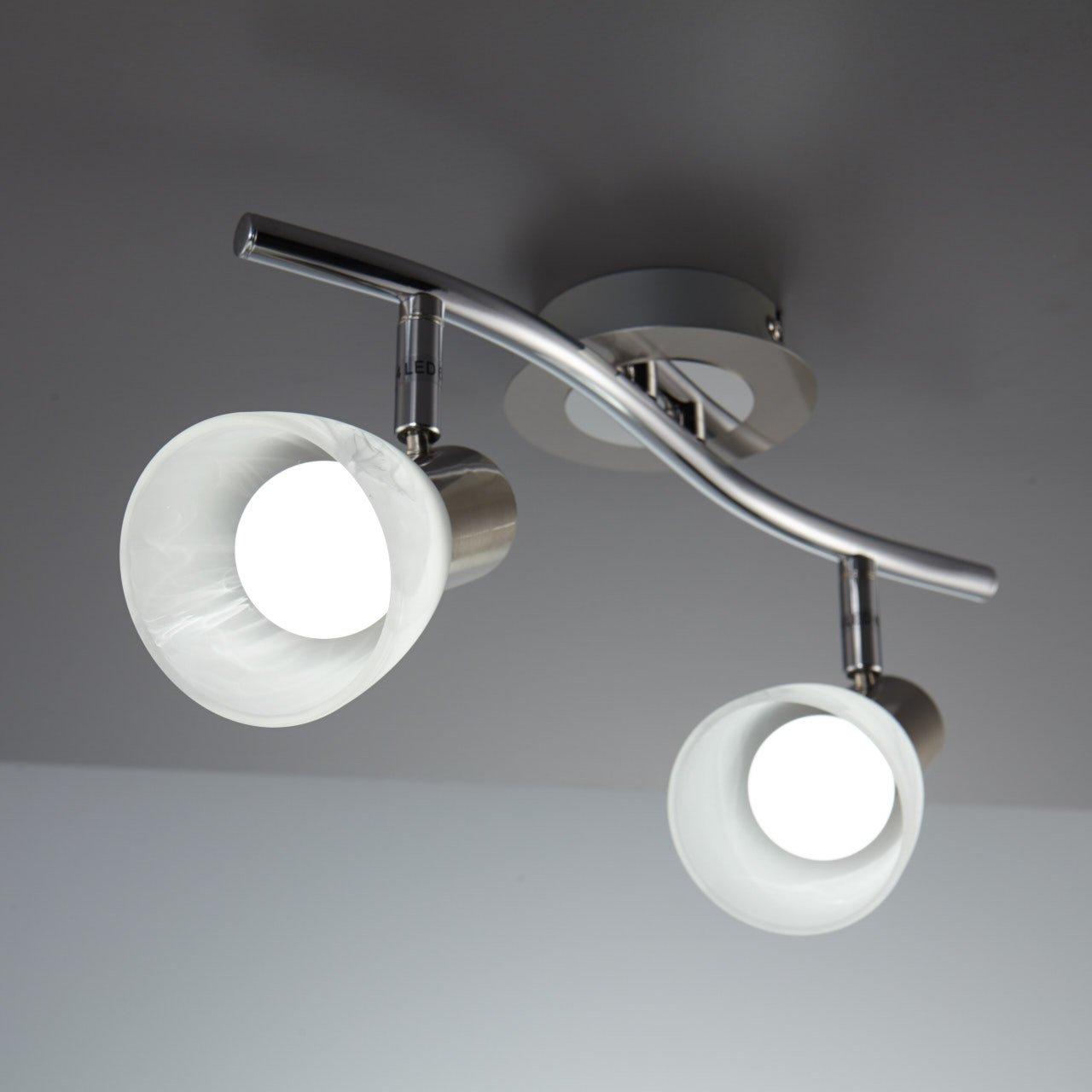 LED Decken-Strahler I 2 flammig I Schlafzimmer-Leuchte I drehbar I ...