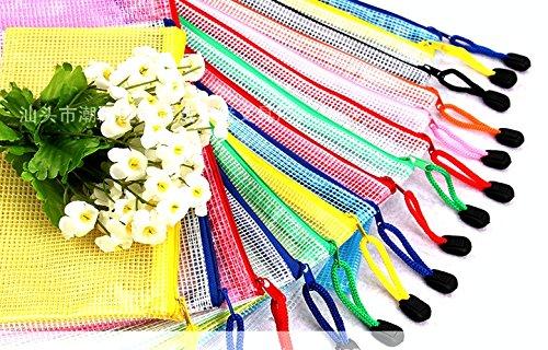 Zipper File Bags Organizer / Waterproof Zippered Storage Holder Best For Office School Documents, Business Receipts, Newspaper, Magazine, Pencil, Pen Case ( 3 Packs 9 Folders Of A4, B5, A5 ()