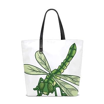 Amazon.com : Dragonfly Tote Bag Purse Handbag Womens Gym ...