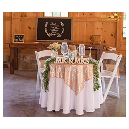 9e39f6b27b75 50  x50   Square Champagne Sequin Tablecloth Select Your Color   Size Can