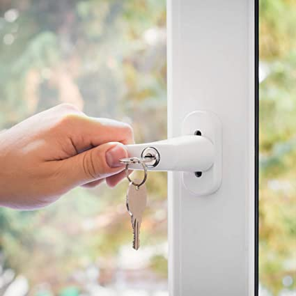 kwmobile 4 pomo de puerta con llave - Manilla de puerta con cerrojo - Manija de seguridad para ventana corredera - Pasador 35MM RAL 9016 color blanco: Amazon.es: Bricolaje y herramientas
