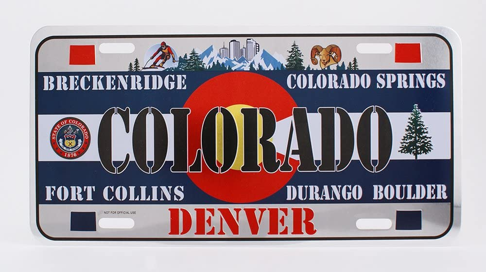Dimension 9 Home Decorative Plate, Colorado