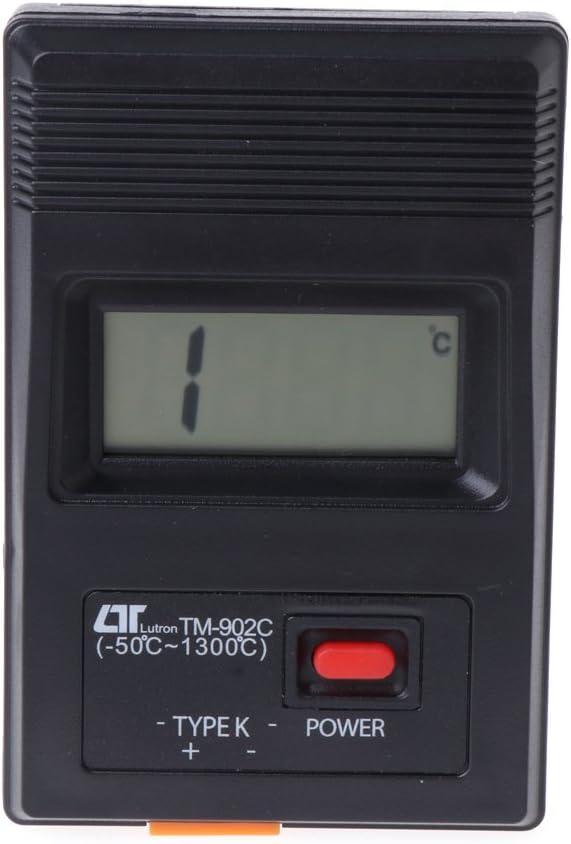 Haia7k4k Tm 902c K K Digitales L Thermometer 50 C Bis 1300 C Mit Thermoelementfühler Küche Haushalt